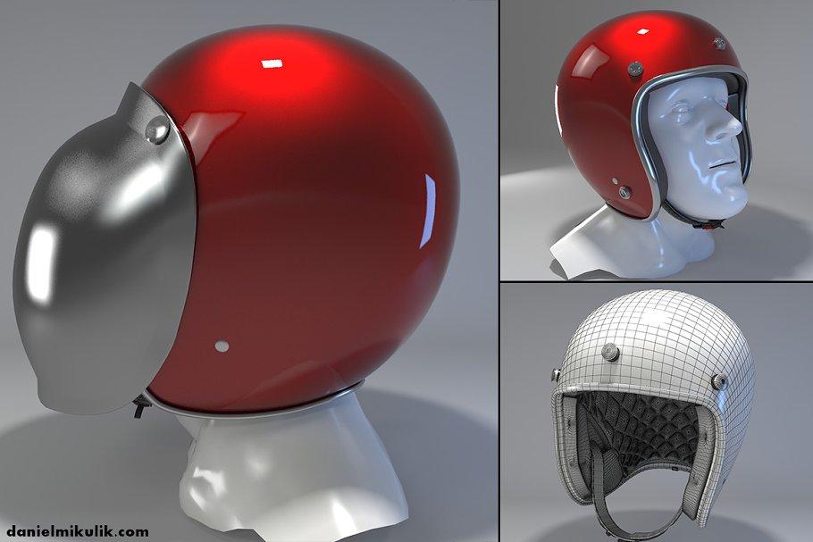 Download Retro Motorcycle Helmet