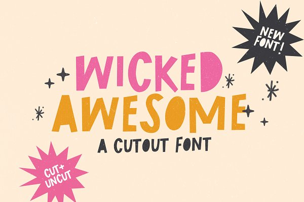 Download Wicked Awesome Cutout font