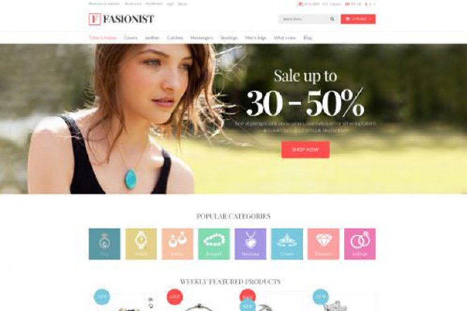 Download Fashionist Responsive OpenCart Theme