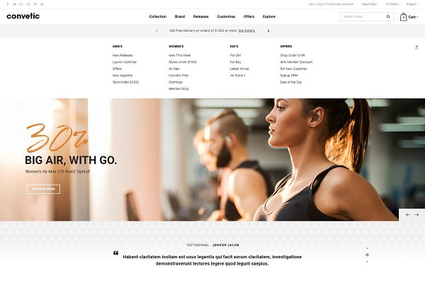 Download Convetic - Gym OpenCart 3 Theme