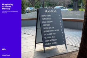 Download Hospitality A-Frame Mockup