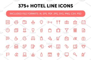 Download 375+ Hotel Line Icons