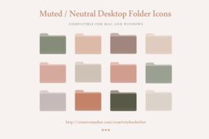 Download Muted / Neutral Desktop Folder Icons