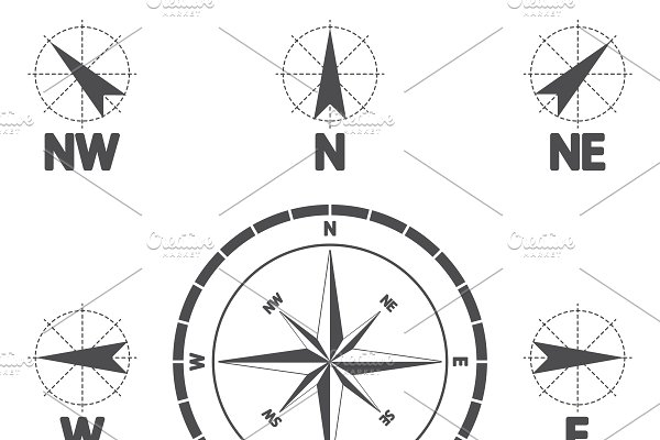 Download Compass wind rose.