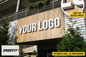 Download Wooden Store Logo Mockups