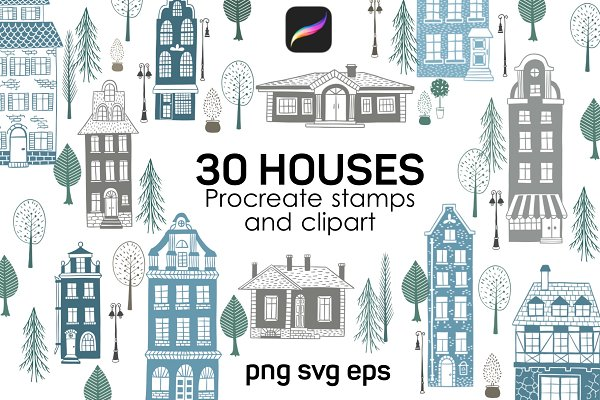 Download House Procreate brushes