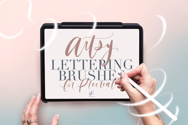 Download Artsy Lettering Brushes - Procreate