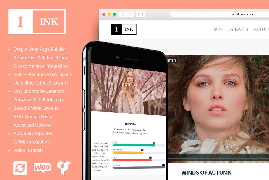 Download Ink Minimalist Blog WordPress Theme