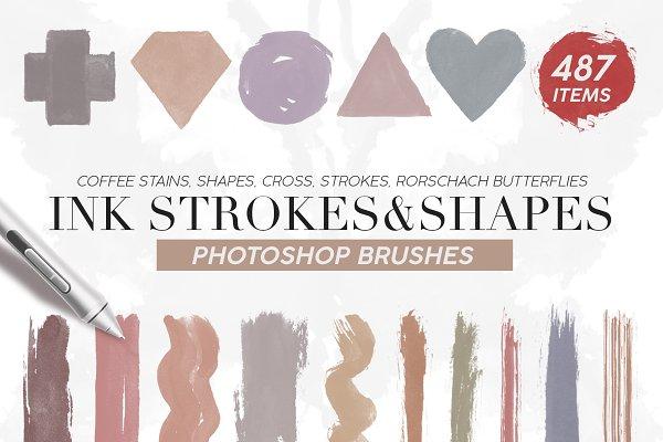 Download 487 Ink Shapes Photoshop Brushes
