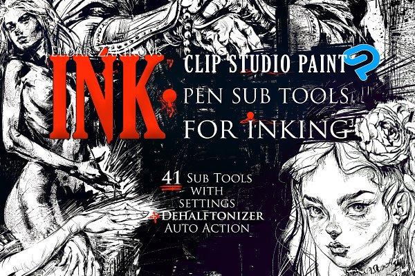 Download INK. CLIP STUDIO SubTools for inking