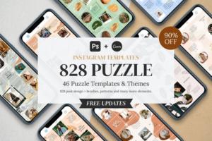 Download PUZZLE Bundle Instagram | CANVA + PS