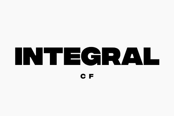 Download Integral CF: Ultra Bold titling font