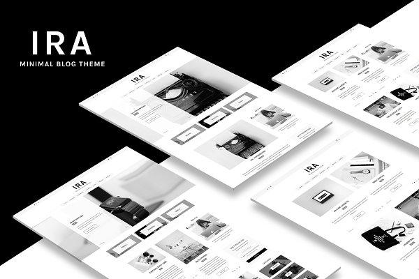 Download Ira - Minimal Blog WordPress Theme