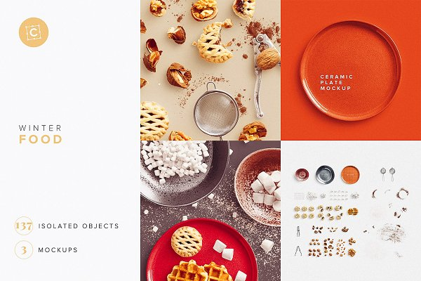 Download Winter Food Mockup Scene Creator