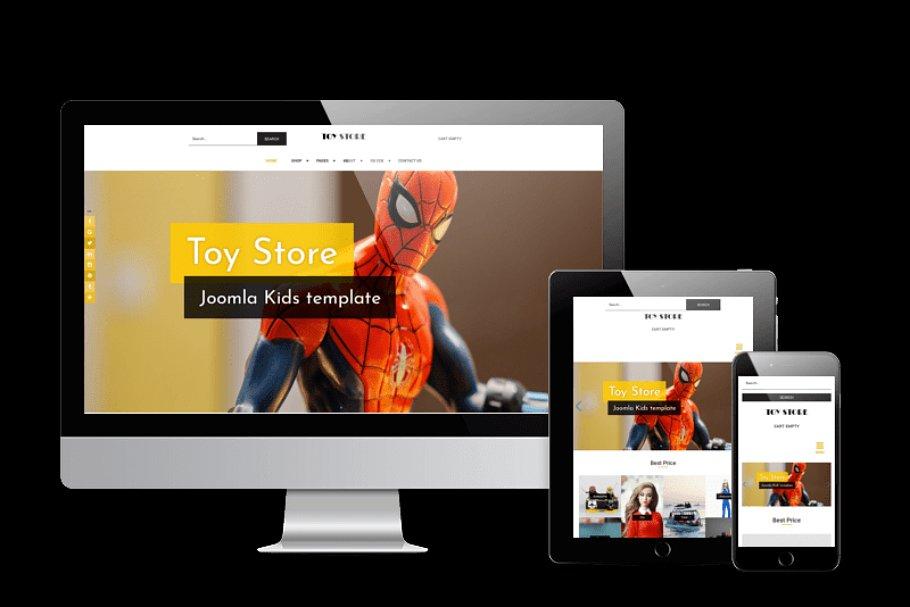 Download Toy store Joomla Virtuemart template