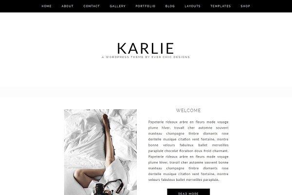 Download Karlie Feminine Wordpress Blog Theme