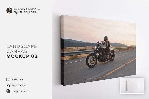 Download Landscape Canvas Ratio 3x2 Mockup 03