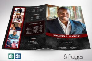 Download Red Rock Funeral Program Word 8Pages