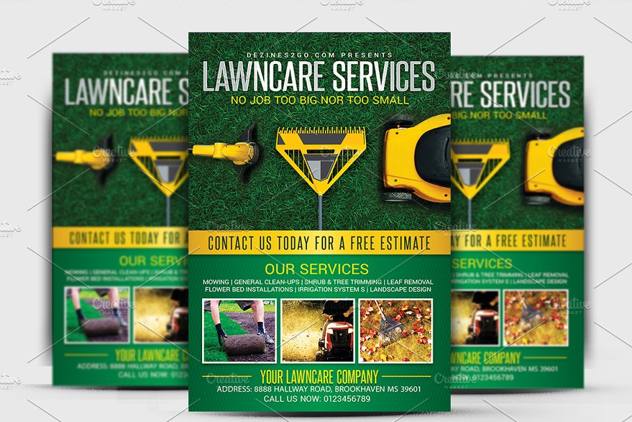 Download Lawn & Garden Care Flyer Template