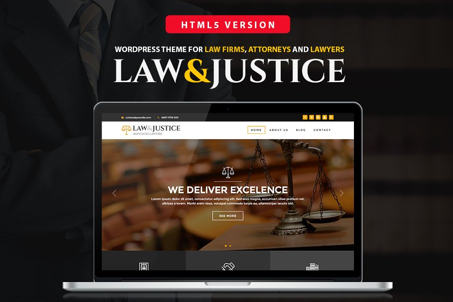 Download Law&Justice: Law Firm HTML5 Template