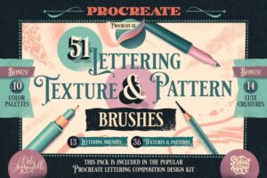 Download Procreate Lettering Brush Pack