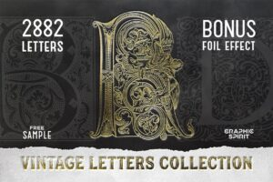 Download 28 IN 1 VINTAGE LETTERS COLLECTION