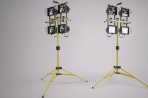 Download Indutstrial spotlights on Tripod