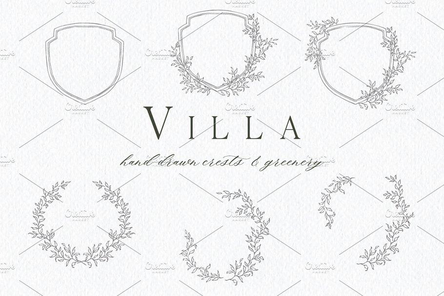 Download Villa - Hand Drawn Crests & Greenery