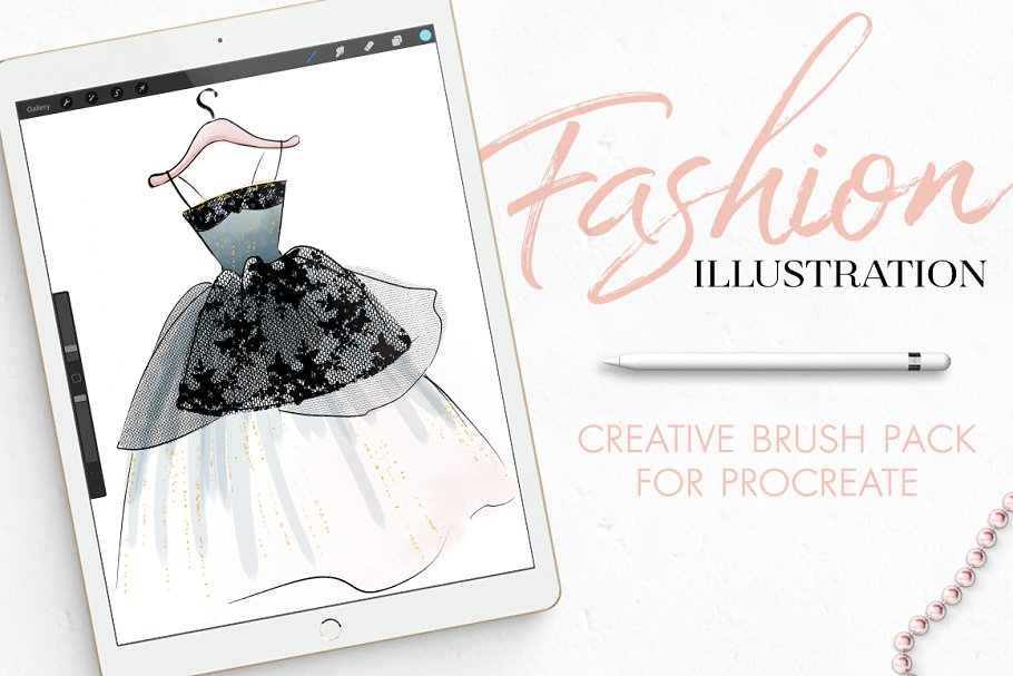Download Procreate Fashion Illustration Set