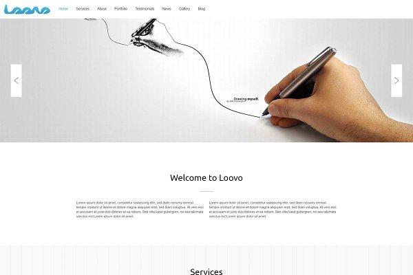 Download Loovo - One Page WordPress Theme
