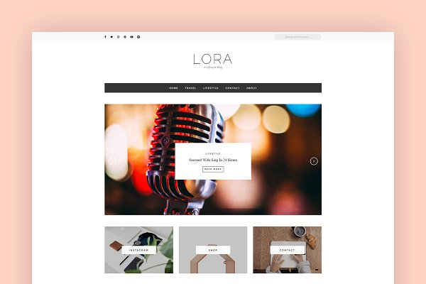 Download WordPress Blog Theme - LORA