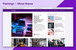 Download Flamingo - Ghost Blogging Theme