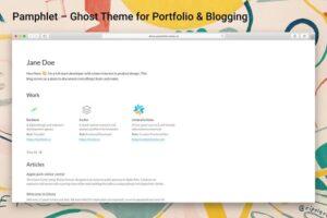 Download Portfolio & Blogging Ghost Theme