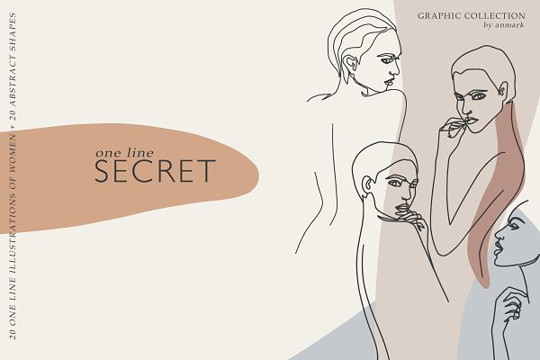Download One Line Secret. Line art nudes