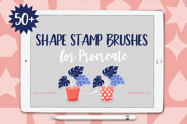 Download Shape Stamp Brushes for Procreate