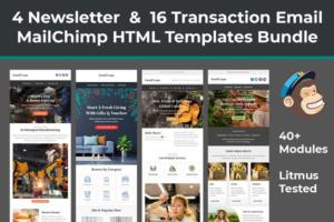Download MailChimp HTML Emails & Newsletters