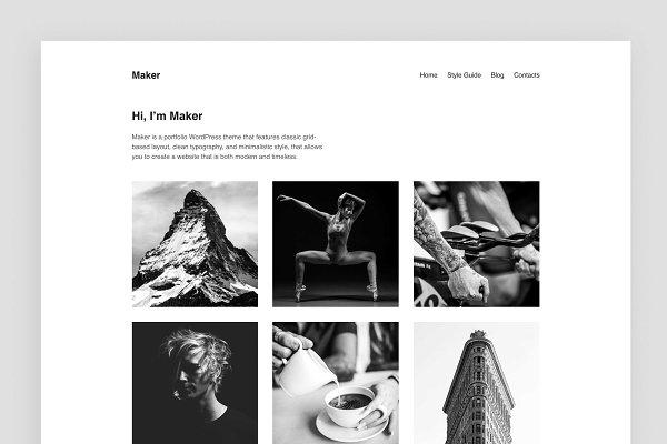 Download Maker – Portfolio WordPress Theme
