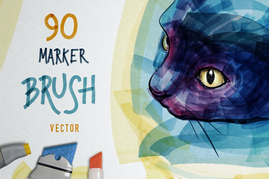 Download Marker Brush Pack for ILLUSTRATOR