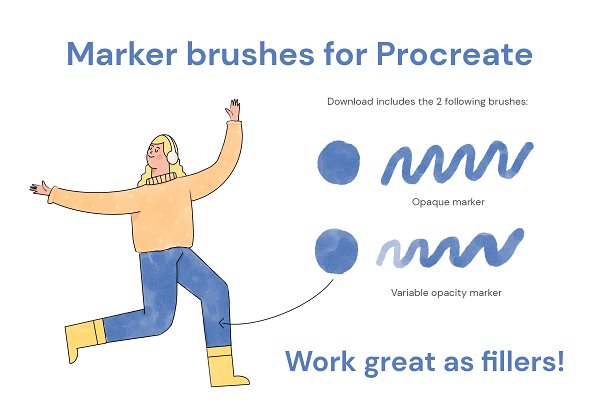 Download Marker brushes for Procreate