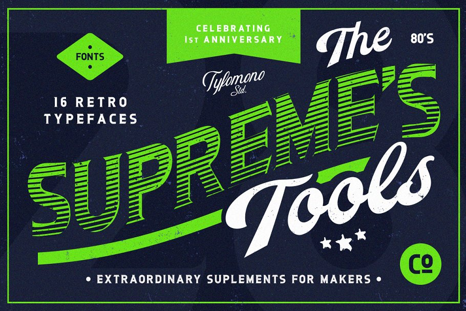 Download NEW! Supreme Tools • 16 Fonts Pack