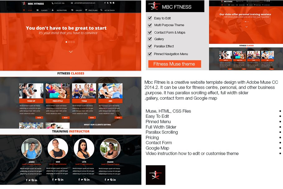 Download Mbc Fitness Muse Template