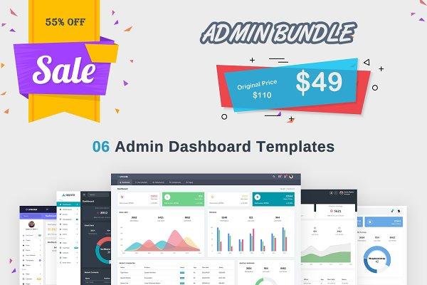Download Admin Bundle - 6 Admin Dashboard in1