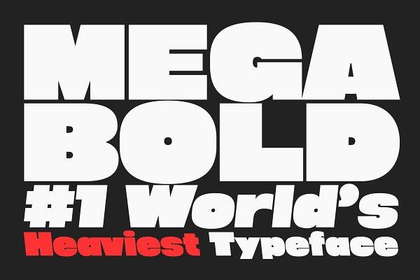 Download Megabold: World's Heaviest Typeface