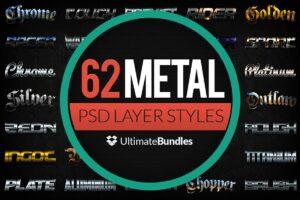Download Metal & Chrome Layer Styles Bundle