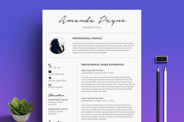 Download Minimal Resume/CV Template + Bonus