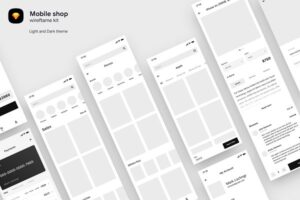 Download Mobile shop wireframe