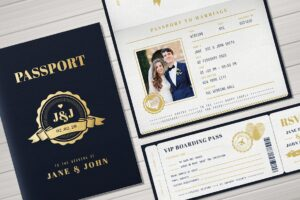 Download Passport Wedding Invitation