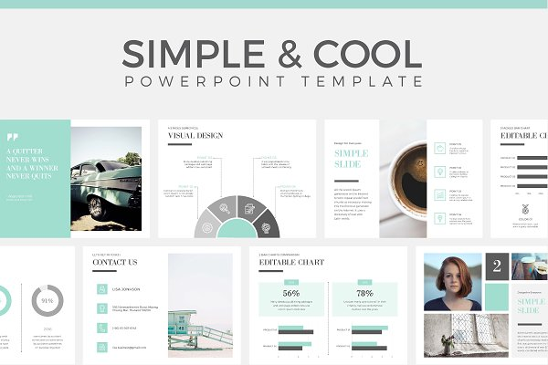 Download Simple & Cool PowerPoint Template