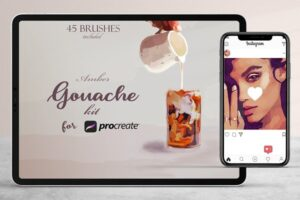 Download Amber Gouache Kit for Procreate
