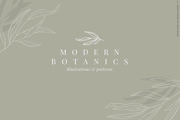 Download Modern Botanics illustration pattern